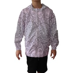 Pink Mandala art  Hooded Wind Breaker (Kids)