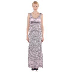 Pink Mandala art  Maxi Thigh Split Dress