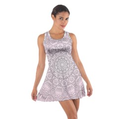 Pink Mandala art  Cotton Racerback Dress