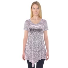 Pink Mandala art  Short Sleeve Tunic