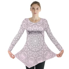 Pink Mandala art  Long Sleeve Tunic