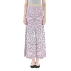 Pink Mandala art  Full Length Maxi Skirt