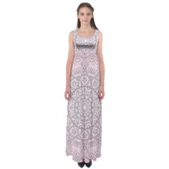 Pink Mandala art  Empire Waist Maxi Dress
