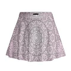 Pink Mandala art  Mini Flare Skirt