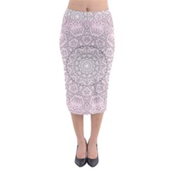 Pink Mandala art  Midi Pencil Skirt