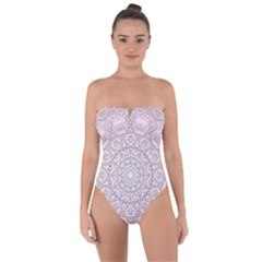 Pink Mandala art  Tie Back One Piece Swimsuit