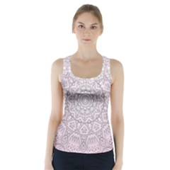 Pink Mandala art  Racer Back Sports Top