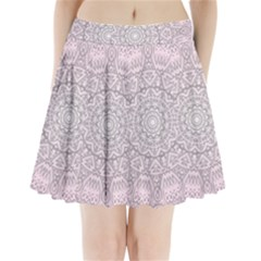 Pink Mandala art  Pleated Mini Skirt