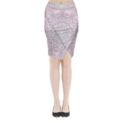 Pink Mandala art  Midi Wrap Pencil Skirt