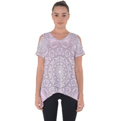Pink Mandala art  Cut Out Side Drop Tee