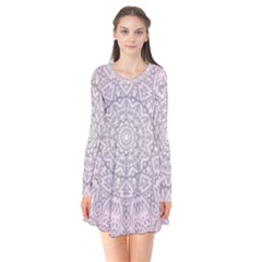 Pink Mandala art  Flare Dress