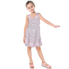 Pink Mandala art  Kids  Sleeveless Dress