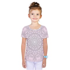 Pink Mandala art  Kids  One Piece Tee