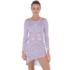 Pink Mandala art  Asymmetric Cut-Out Shift Dress