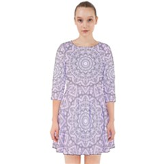 Pink Mandala art  Smock Dress