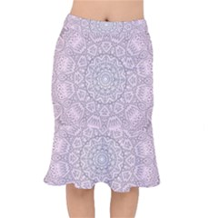Pink Mandala art  Mermaid Skirt
