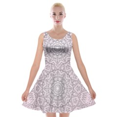 Pink Mandala art  Velvet Skater Dress