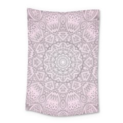Pink Mandala art  Small Tapestry
