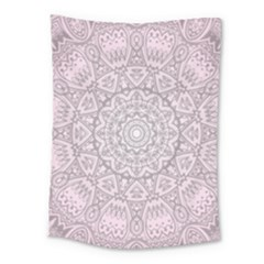 Pink Mandala art  Medium Tapestry