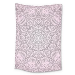 Pink Mandala art  Large Tapestry