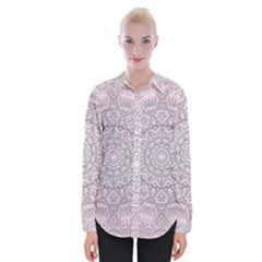 Pink Mandala art  Womens Long Sleeve Shirt