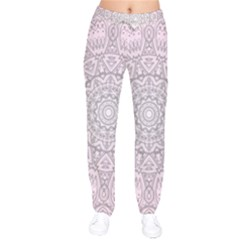 Pink Mandala art  Drawstring Pants