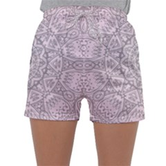 Pink Mandala art  Sleepwear Shorts