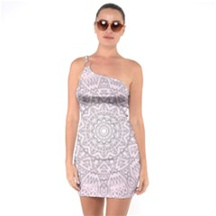 Pink Mandala art  One Soulder Bodycon Dress