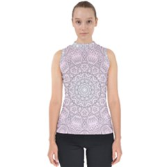 Pink Mandala art  Shell Top