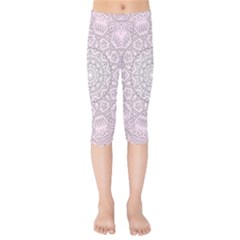 Pink Mandala art  Kids  Capri Leggings