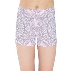 Pink Mandala art  Kids Sports Shorts