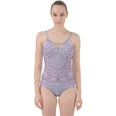 Pink Mandala art  Cut Out Top Tankini Set