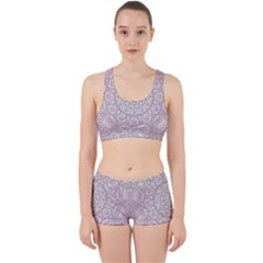 Pink Mandala art  Work It Out Sports Bra Set