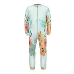 Watercolor Floral Blue Cute Butterfly Illustration Onepiece Jumpsuit (kids)