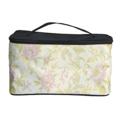 Floral Paper Pink Girly Pattern Cosmetic Storage Case by paulaoliveiradesign