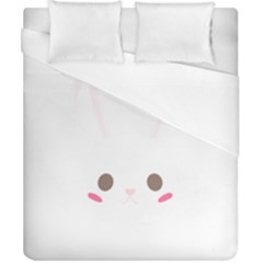 Rabbit Cute Animal White Duvet Cover (california King Size) by Nexatart