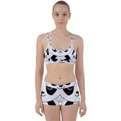 Bear Panda Bear Panda Animals Women s Sports Set by Nexatart