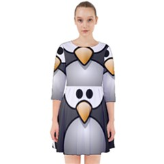 Penguin Birds Aquatic Flightless Smock Dress