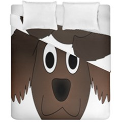 Dog Pup Animal Canine Brown Pet Duvet Cover Double Side (california King Size) by Nexatart