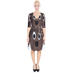 Dog Pup Animal Canine Brown Pet Wrap Up Cocktail Dress