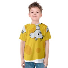 Rat Mouse Cheese Animal Mammal Kids  Cotton Tee