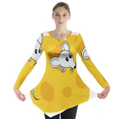 Rat Mouse Cheese Animal Mammal Long Sleeve Tunic