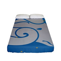 Ram Zodiac Sign Zodiac Moon Star Fitted Sheet (full/ Double Size) by Nexatart