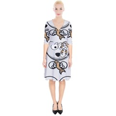 Bear Polar Bear Arctic Fish Mammal Wrap Up Cocktail Dress