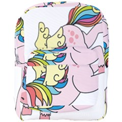 Unicorn Arociris Raimbow Magic Full Print Backpack by Nexatart