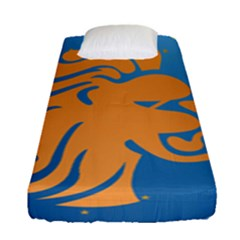 Lion Zodiac Sign Zodiac Moon Star Fitted Sheet (single Size)