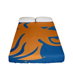 Lion Zodiac Sign Zodiac Moon Star Fitted Sheet (full/ Double Size)