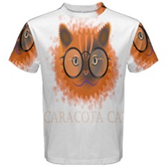Cat Smart Design Pet Cute Animal Men s Cotton Tee