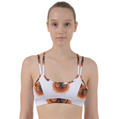 Cat Smart Design Pet Cute Animal Line Them Up Sports Bra