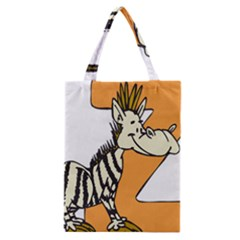 Zebra Animal Alphabet Z Wild Classic Tote Bag